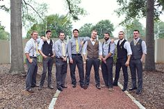 something like this for groomsmen, except light purples instead of yellows