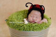 Lady bug bonnet!