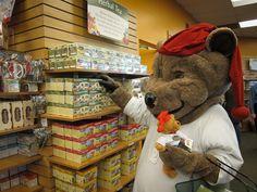 #sleepytime Bear buying his favorite tea at the Celestial Seasonings factory.