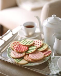 Spruce up your holiday cookies by sprinkling them with bold geometric patterns.