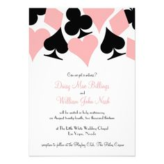 Playing card suit wedding invite by 2 Bird Stone
