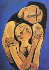 by Oswaldo Guayasamin Quito, Ecuador) or 'Mother & Child' Art And Illustration, Arte Inspo, Modern Art, Contemporary Art, Learn Art, Wow Art, Fine Art, Portrait Art, Figurative Art