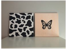 Small Canvas Paintings, Easy Canvas Art, Small Canvas Art, Cute Paintings, Mini Canvas Art, Acrylic Painting Canvas, Diy Painting, Butterfly Painting Easy, Hippie Painting