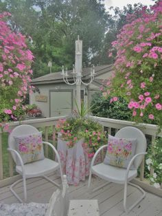 Junk Chic Cottage - she got these chairs at menards