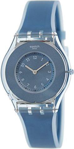 Swatch Womens SFS103 Skin Analog Display Swiss Quartz Blue Watch