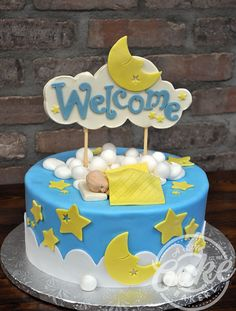 Sleeping Baby shower themed cake