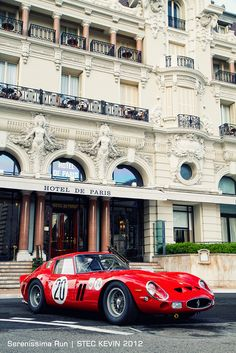 SUPERB CARS (AP) -      Ferrari 250 GTO in front of Hotel de Paris in Monte Carlo...