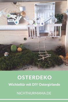 Wichteltür zu Ostern: DIY Osterhasen-Girlande aus alten Buchseiten. Wichteltür // Wichtel // Osterhase // Ostern // Osterdeko // Buchseiten // Upcycling #wichteltür #wichtel #osterhase #ostern #osterdeko #buchseiten #upcycling Kids Interior, Plants, Baby, Handmade, Book Page Garland, Tooth Fairy, Secret Santa, Family Life, Back To School