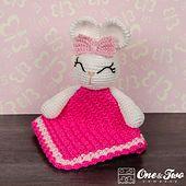 Ravelry: Olivia the Bunny Lovey Security Blanket pattern by Carolina Guzman