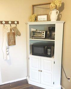 Kitchen Storage Microwave Stand Farmhouse