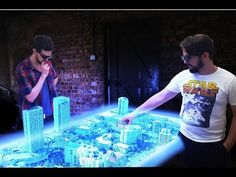 Euclideon Holographics – Powered By Unlimited Detail The hologram table can display digital models of cities or buildings as miniatures, with the ability to then zoom in down to single blades of grass. Users can pick up objects and move them around, or prepare holographic presentations to convey an idea. The holograms it projects can project up to 60cm high or appear to sink a meter into the table.