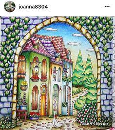Livro:  Romantic Country  Pintado por: @joanna8304  #topcoloridos…