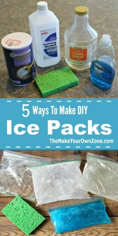 How to make a homemade ice pack - These five ideas are simple to do and can be made with common household items