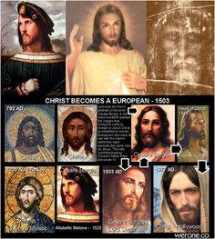 """Christ becomes a european """"And laid open the book of the law, wherein the heathen had sought to paint the likeness of their images."""" – 1 Maccabees 3:48"""
