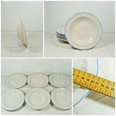 5 x Pasta Bowls Country Basket Collection Japan 20.5cm Vintage Soup Veg FREE P&P