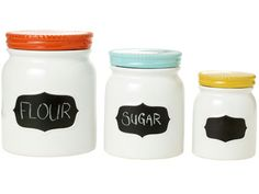 Boost your kid's kitchen cred with Threshold Stoneware Canisters, complete with a chalk label. #grad #gifts