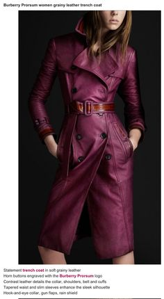 85a13543826c burberry trench   Tumblr Leather Trench Coat, Trench Coats, Burberry  Trench, Burberry Prorsum