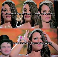 Rachel wins prom queen Rachel Berry, Prom Queens, Lea Michele, Glee, Glamour, The Shining, Choir