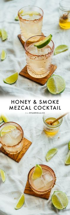 Honey & Smoke Cocktail recipe: An easy mezcal cocktail with just four ingredients! Here's how to make your own | bygabriella.co