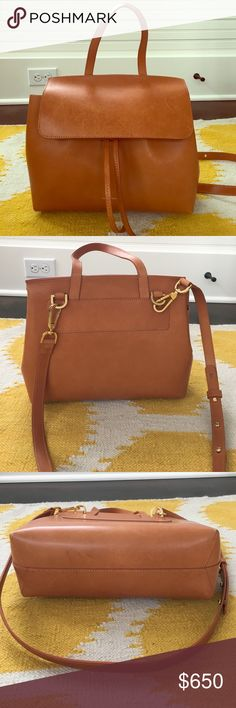 """Mansur Gavriel Mini lady bag! Only used a handful of times.  In Cammello color with Rosa interior.  Purchased at Barneys.  Comes with dust bag.  About 8.5"""" height, 12"""" wide. Mansur Gavriel Bags Totes"""
