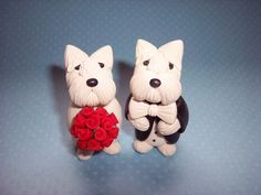 Westie cake toppers