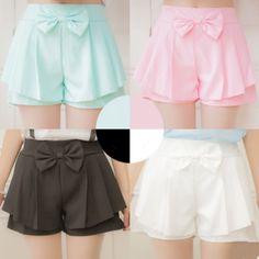 Japanese sweet bowknot shorts