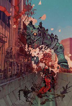 Fantasia e ficção científica nas ilustrações estilo quadrinhos europeus de Jakub Rebelka