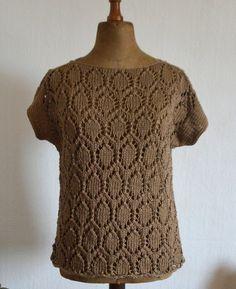 Bluzko-kamizelka na drutach - molsi - Swetry i bezrękawniki