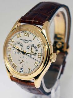 5f2c9fae297 Patek Philippe 5035 Annual Calendar 18K Gold Mens Watch Papers Deployant  5035J