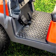 Golf Cart Replacement RHINO Floor Mat Covers Custom fit mats for your make/model golf cart. Lightweight but rugged mat will not slide out of position. Unique design channels water away to eliminate pooling. Golf Pride Grips, Golf Club Grips, Rubber Floor Mats, Rubber Flooring, Rubber Mat, Golf Cart Parts, Custom Golf Carts, Golf Apps, Golf Cart Accessories