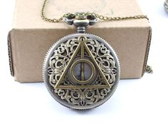 Hey, I found this really awesome Etsy listing at https://www.etsy.com/listing/210940442/harry-potter-pocket-watch-death-hallows