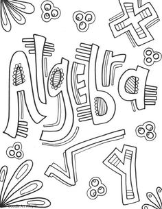 coloring pages for lots of school subjects
