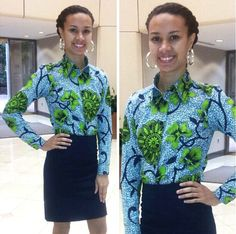 African print peplum skirt by MelangeMode on Etsy