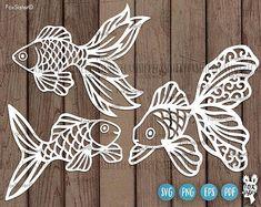 Goldfish Svg Bundle Gold Fish Clipart Template Fish Svg