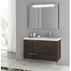 ACF by Nameeks ACF ANS23-W New Space 39-in. Single Bathroom Vanity Set - Wenge - ACF ANS23-W-