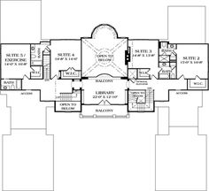 House Plan 96913 - European Style House Plan with 8126 Sq Ft, 5 Bed, 7 Bath, 4 Car Garage European Plan, European Style, Mountain House Plans, Luxury House Plans, Home Design Plans, Car Garage, European Fashion, Square Feet, Floor Plans