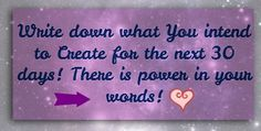 Did you know writing down your intentions is so powerful? Creating with words is powerful