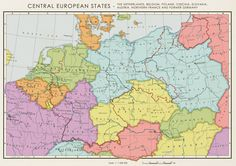 A map by the allies about how Central Europe could look like without a German nation after WWII.