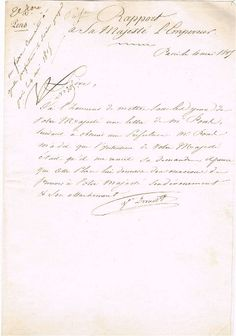 """Napoleon signed letter to Josephine Bonaparte.  The widow Josephine de Beauharnais was the mistress of several leading French politicians before she met the Little General in 1795. Napoleon soon fell in love with Josephine - who was six years older than him - and in December 1795 wrote: """"I awake full of you. Your image and memory of last night's intoxicating pleasures has left no rest to my senses."""""""
