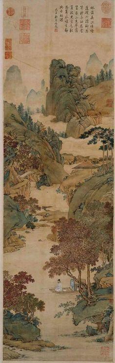 Peinture de Qiu Ying, dynastie Ming