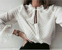 It's all in the details 🙏🏻 Loving this snap of our Boho Sheer Shirt from 💫 Looks Style, Style Me, Look Fashion, Womens Fashion, Fashion Trends, 90s Fashion, Feminine Fashion, Daily Fashion, Fashion Ideas