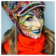 Vastelaoves by Sôkkertantes Schmink - Vastelaovend, carnaval, facepaint Made by; Tinta Facial, Face Painting Stencils, Art Visage, Human Body Art, Piercings, Face Art, Mardi Gras, Body Art Tattoos, Old School