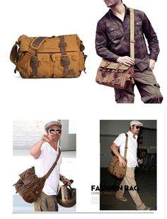 ... Amazon.com Besporter M2138 Leather Canvas Shoulder Bookbag Laptop  Messenger Bag + Dslr Slr Camera ... b4fe6aedfb