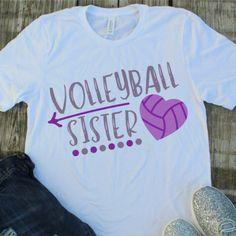 Volleyball Sister SVG - Volleyball SVG - Sister SVG - Proud Sister svg - Volleyball Shirt - Files for Silhouette Studio/Cricut Design Space Cute Volleyball Shirts, Volleyball Shirt Designs, Volleyball Team Gifts, Volleyball Outfits, Volleyball Setter, Volleyball Quotes, Volleyball Pictures, Sports Shirts, Volleyball Room