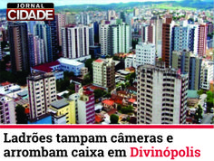 Uma agência bancária foi arrombada na madrugada deste domingo (23) no Centro de Divinópolis. Leia mais: http://www.jornalcidademg.com.br/ladroes-tampam-cameras-e-arrombam-caixa-em-divinopolis/