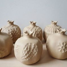 The pomegranate has been grown for thousands of years in the Mediterranean region, and is referenced throughout the Bible as one of the 7 species native to the Land of Israel. Ceramic Clay, Ceramic Vase, Ceramic Pottery, Ceramic Lantern, Pottery Houses, Pottery Handbuilding, Ceramic Texture, Advanced Ceramics, Ceramic Angels