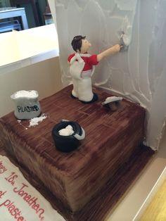 Plastered!! Cupcake Cakes, Cupcakes, Tool Cake, Plastering, Cake Pictures, Creative Food, Deli, Cake Ideas, Birthday Cake