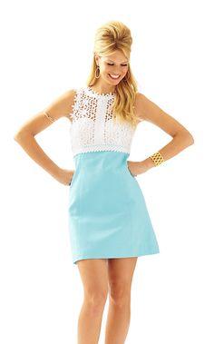 Breakers Lace Top Shift Dress - Lilly Pulitzer $298 breakwater blue