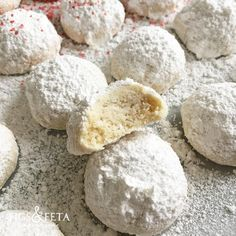 Kourabiethes - Powdered Sugar Greek Butter Cookies -