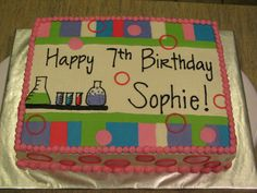 science themed bday cake - Google Search